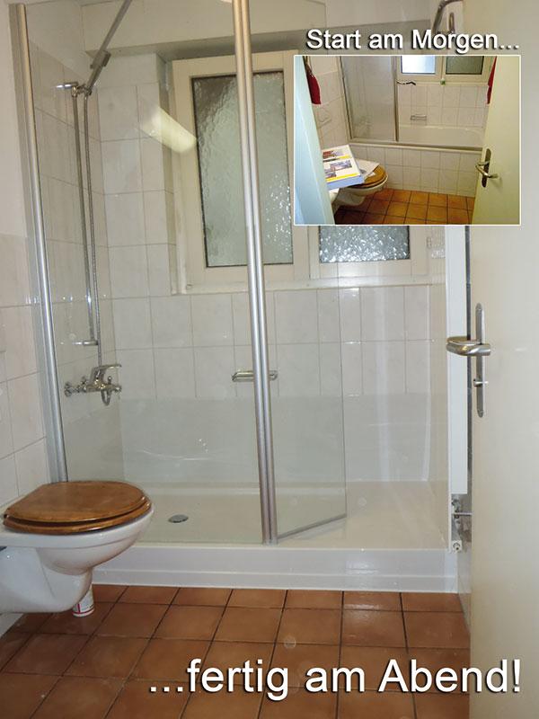 Mieter Will Dusche Statt Badewanne : Umbau Badewanne zu barrierearmer Dusche